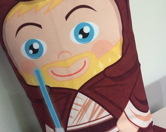 Obi Wan Kenobi Yoda 'Hero Hugger' Decorative Pillowcase Custom Design Star Wars