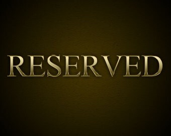 Reserved for Diane