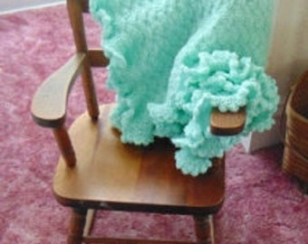 Hand Crocheted Baby Blankets with Ruffles