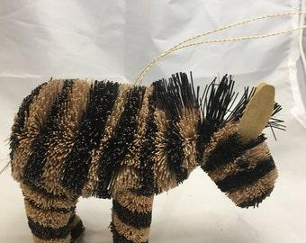 Bottle Brush Zebra Christmas Tree Ornament