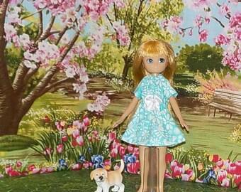 LTE-159) Lottie doll clothes, 1 pretty dress