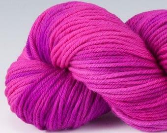 Handpainted DK weight yarn, 100% SW Merino, Spry115, 115 g, Wild Rose