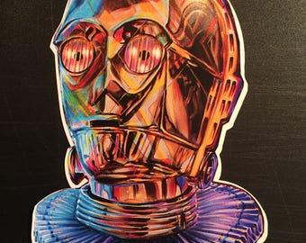 Star Wars C3PO Sticker