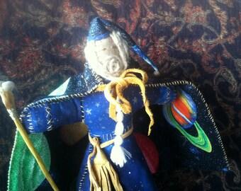 Custom made Wizard Heirloom Doll