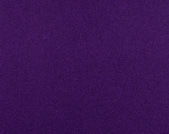 "Purple Solid Tone Designer Wool Felt by the Foot - 100% Wool, 70.9"" Wide, 3mm and 5mm Thicknesses Available, Buy More Save More"
