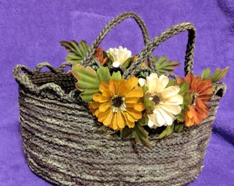 Rustic Hand Made Rope Basket