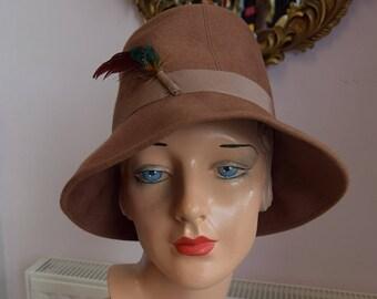 1960's Camel Wool Bucket Hat