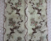 18th c Rococo Brocade~ Meandering Polychrome Silk Florals~ Roses, Bows, and Fur