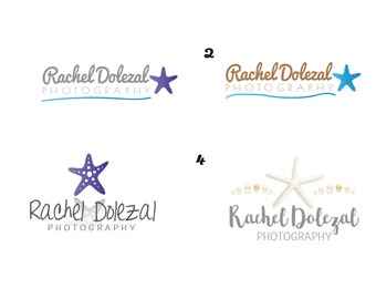 Custom Logo for photographer or other creative Starfish inspired PICK ONE