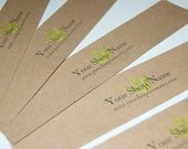 """50 14"""" inch brown KRAFT Paper Wrap - Custom Design included - Belly Bands, packaging, Paper Ribbon, Soap, t-shirts, invitations, gifts"""
