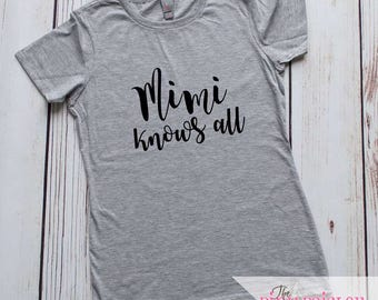Mimi Shirt | Grandma Shirt | Nana Shirt | Mothers Day Gift | Mothers Day Present | Ladies Fit Boutique Tee | Grandmother Shirt | Mimi | Mom