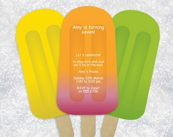 ice block summer wedding ceremony program fan - printable editable pdf file template order of service paddle fan outdoors