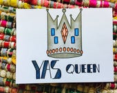 Yes Queen Card (blank)