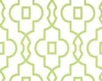 Bordeaux Kiwi green and white, designer fabric, shower curtain, printed cotton, 72 x 72, 72 x 84, 72 x 90, 108