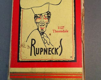 Vintage Chicago Rupneck's Restaurant Playing Cards, Vintage Chicago Restaurants, 1940's Rupneck's Collectibles, Old Chicago, *USA ONLY*