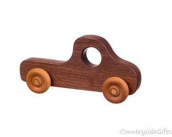 Wooden Toy Truck - Natural & Organic Wooden Toy Truck for Toddlers, Kids, Children, Wooden Toy Pickup Truck, Toy Truck, Walnut
