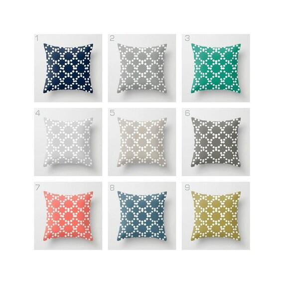 OUTDOOR Throw Pillow. Patio Cushion . Outdoor Pillow . Outside Pillow . Modern Patio Cushion . Geometric Pillow . Gray Navy 16 18 20 inch