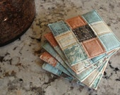 Quilted Coasters in Sweet Serenade by BasicGrey for Moda - Set of 5