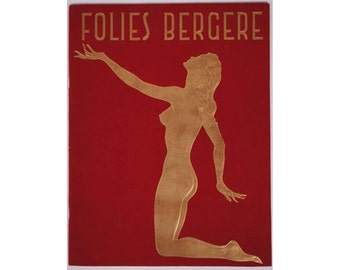 Vintage 1950s Burlesque - Folies Bergere Souvenir Program