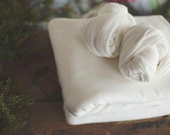 Photography Backdrop -Newborn Backdrop - Posing Fabric - Fabric Backdrop - Photography Blanket - Newborn Backdrop - Matte Knit OPAL White