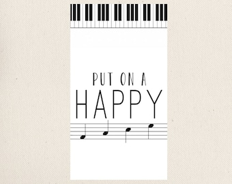 Piano Notepads, Put on a Happy Face