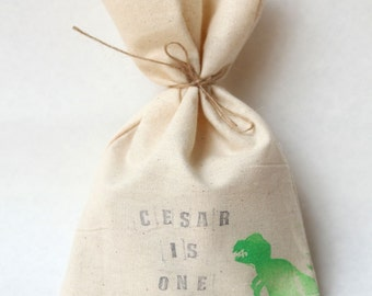Custom printed Party Favour Bags - Choose your own text! Stamp printed, choose your own design