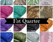 Sequin Bolt Fabric Fat Quarter Blue Purple Green Gold Orange Black Silver Pink Blush Rose Turquoise Mint Iridescent