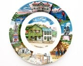 Vintage Mark Twain House / Hannibal, MO Souvenir Plate