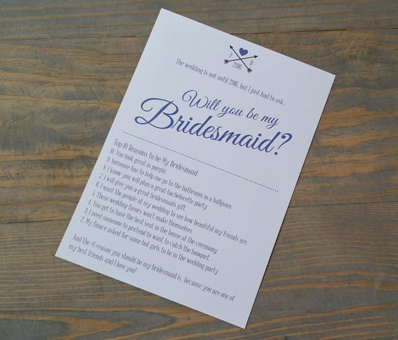 Bridesmaid Proposal, Will You Be My Bridesmaid, Wedding Card Proposal, Bridesmaid Invite, Asking Bridesmaids for Bridesmaid Box