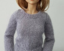 Luxurious silk mohair sweater to fit MSD size dolls such as Dollstown DT7, Iplehouse JID, Kish Chrysalis  and similar.