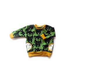 Organic Hippu Bear Pocket Sweatshirt, baby jumper, baby clothes.
