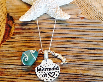 Mermaid At Heart Charm Necklace