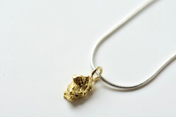 Gold Nugget Pendant Genuine Natural Pure Gold Nugget From