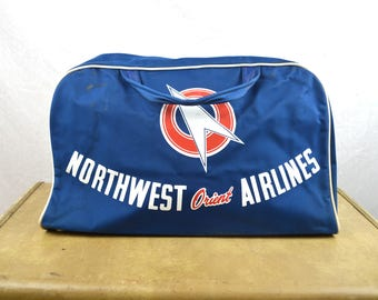 Vintage Northwest Airlines Travel Day Bag Tote