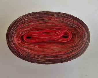 RASPBERRY MEDLEY - Color Changing Cotton yarn - 480 yards/100 gr  Fingering Weight