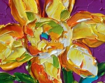 Daffodil Painting, Art, Wall Art, Original Painting, Oil Painting, Original Artwork, canvas art