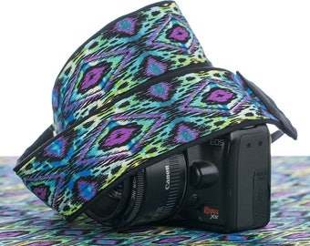 dSLR Camera Strap, SLR, Mirrorless, Ikat Tribal, Southwestern,Mens camera strap, Canon, Nikon, SLR, 092