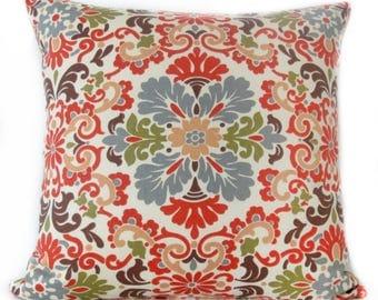 Pillow Cover - Peach - Damask - Waverly Folk - Decorative -Cushion Cover