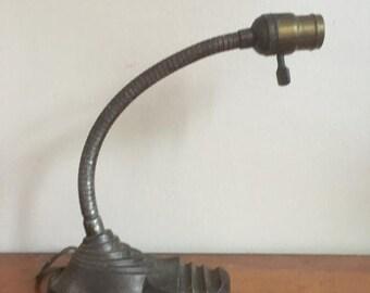 Holiday Sale. Vintage Art Deco Gooseneck Lamp Eagle Co.