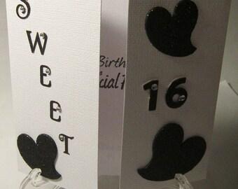 Sweet 16 Tri-Fold Birthday Card