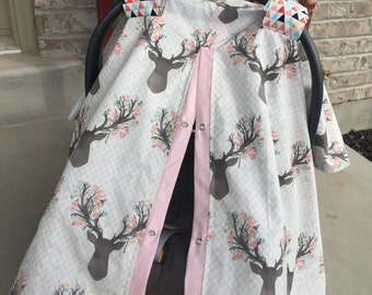 CAR SEAT COVER / carseat canopy / nursing cover /car seat canopy / carseat cover / carseat canopy / nursing cover  / stagg / deer / anter