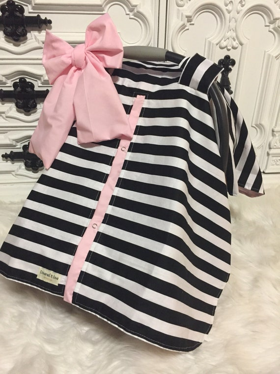 car seat cover / car seat canopy / nursing cover / carseat canopy / carseat cover / comes with big bow