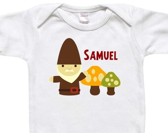 Baby Bodysuit - Toddler Shirt - Baby Shower Gift - Birthday Gift - Gnome Woodland Mushrooms