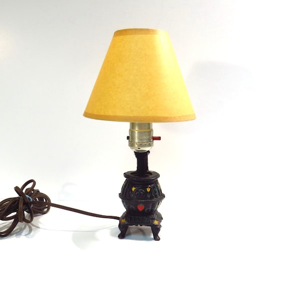 Mini Candle Stove: Cast Iron Pot Belly Stove Mini Lamp Vintage Decor Handmade