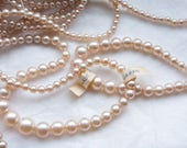 RESERVED for Kathleen // 70 strands 1940s Glass Pearls / Made in Occupied Japan 17 inches each
