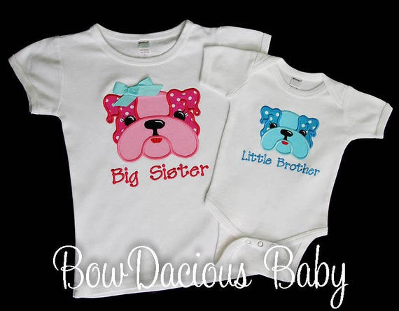 Brother Sister Shirts Matching Sibling Shirt Set Of 2 Big Sister