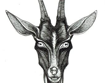 minimalist ink print: Metal