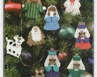 Christmas Ornament Patterns - Plastic Canvas - Nativity