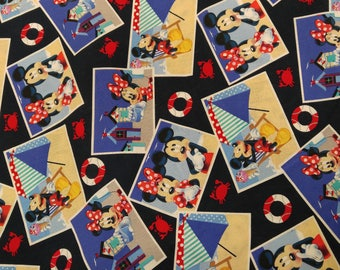 DISNEY's Just Say Cheese Mickey Mouse Fabric -- 40-70% off Fabrics n Books SALE