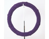 Knit Steering Wheel Cover (Deep Grape) with Safety Rubber Backing, Machine Washable